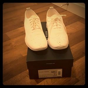 Cole Haan Zerogrand White Sneakers, 9.5, NEW